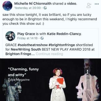 Katie Reddin Clancy British Voiceover Artist Brighton Fringer