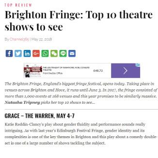 Katie Reddin Clancy British Voiceover Artist Grace Brighton Fringe