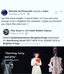 Katie Reddin Clancy British Voiceover Artist Grace Show Ride 09