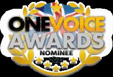 Katie Reddin Clancy British Voiceover Artist Award Nominee Logo