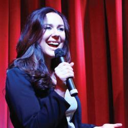 Katie Reddin Clancy British Voiceover Artist Stand up image1
