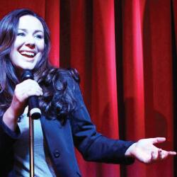 Katie Reddin Clancy British Voiceover Artist Stand up image2