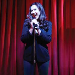 Katie Reddin Clancy British Voiceover Artist Stand up image3