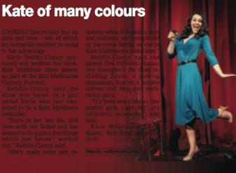 Katie Reddin Clancy British Voiceover Artist Stonnington Leader